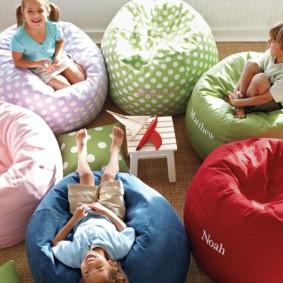 кресло пуф для детской интерьер фото