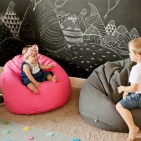 кресло пуф для детской идеи интерьер