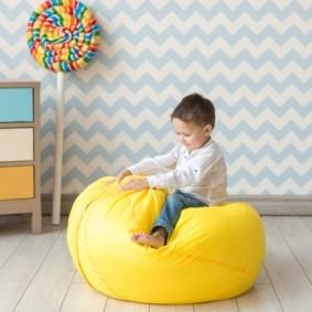кресло пуф для детской идеи интерьера