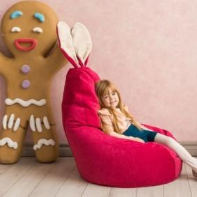 кресло пуф для детской идеи дизайн