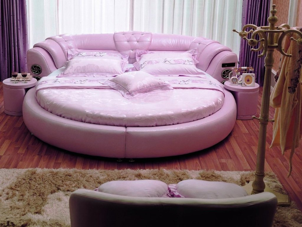 круглый диван кровать
