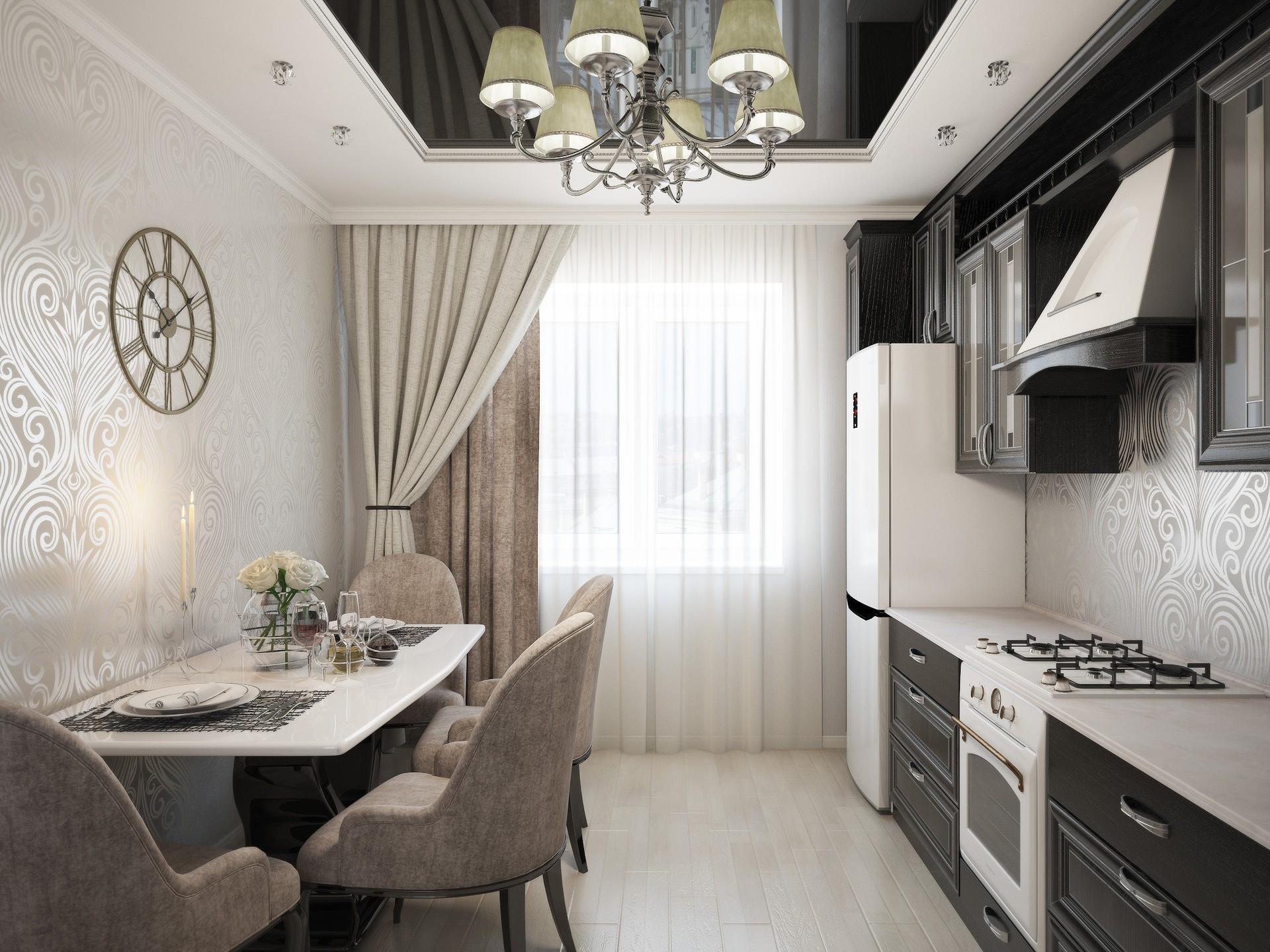 кухня в квартире распашонке