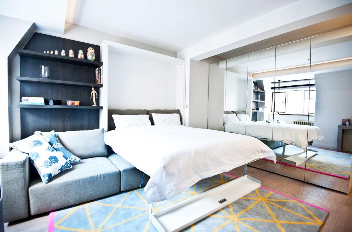 квартира площадью 35 кв м диван кровать