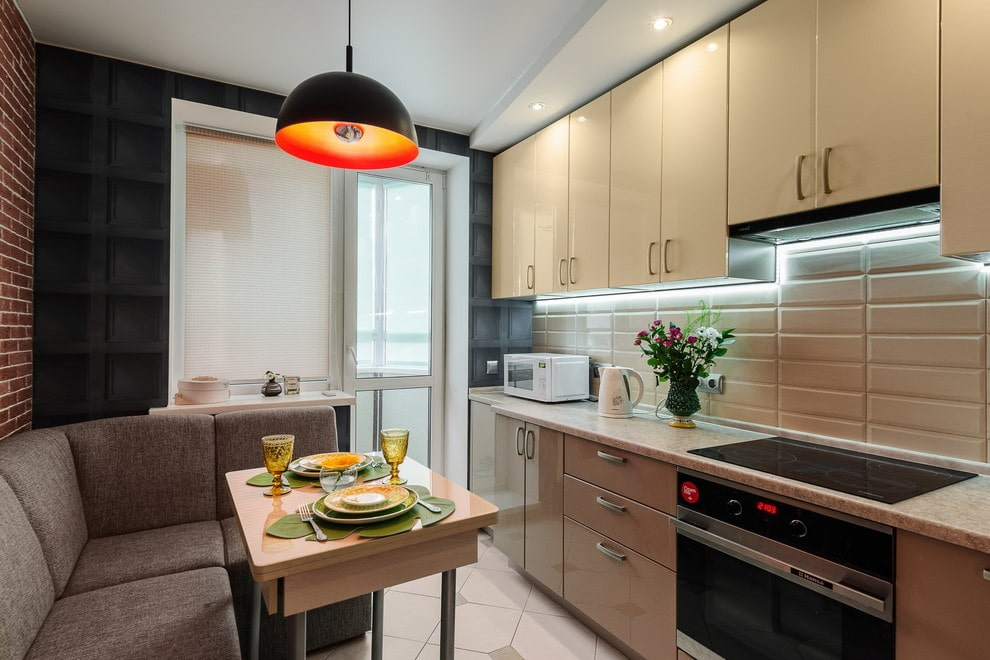 квартира площадью 35 кв м кухня