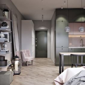 квартира студия 30 кв метров