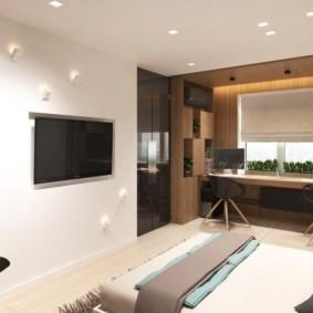 квартира студия 30 кв метров декор