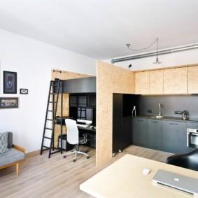 квартира студия 30 кв метров фото интерьера