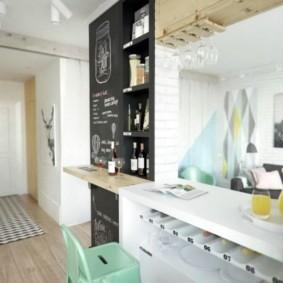 квартира студия площадью 27 кв м идеи дизайна