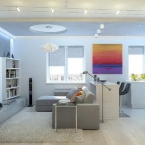 квартира студия площадью 27 кв м фото декор