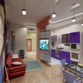 квартира студия площадью 27 кв м идеи декора