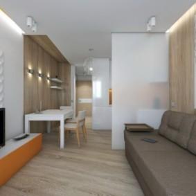 квартира студия площадью 27 кв м интерьер