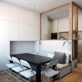 квартира студия площадью 27 кв м идеи вариантов