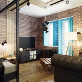 квартира студия площадью 27 кв м обзор