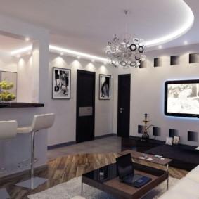 квартира студия площадью 27 кв м виды декора