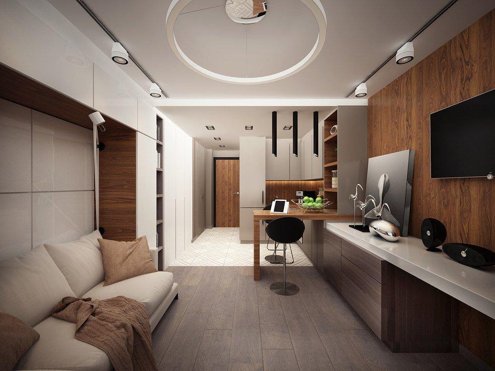 квартира студия площадью 27 кв м гостиная