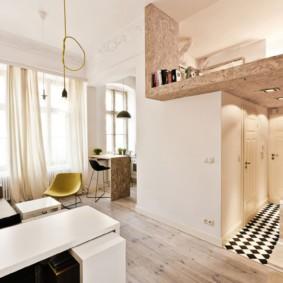 квартира студия площадью 27 кв м интерьер дизайн