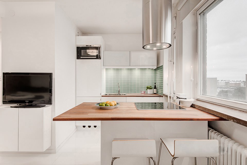 квартира студия площадью 27 кв м кухня балкон