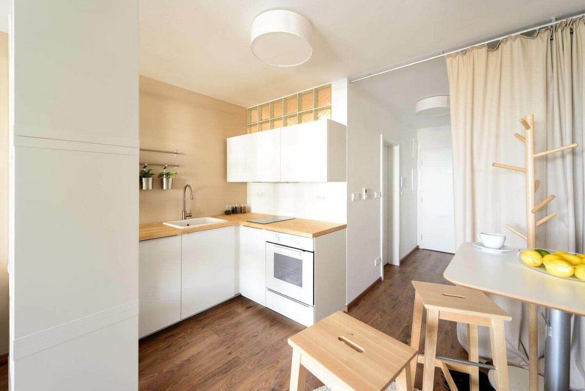 квартира студия площадью 27 кв м кухня