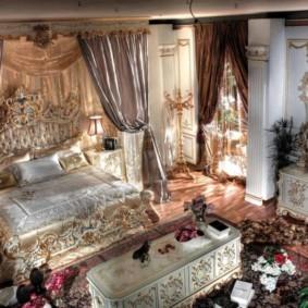 квартира в стиле барокко спальня