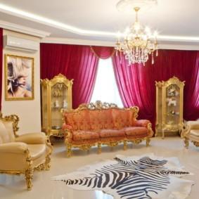 квартира в стиле барокко зал