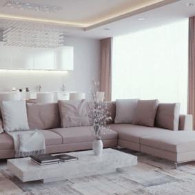 квартира в светлых тонах и современном стиле оформление