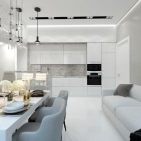 квартира в светлых тонах и современном стиле обзор