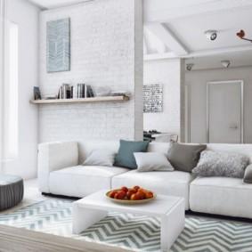 квартира в светлых тонах и современном стиле дизайн идеи