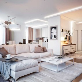 квартира в светлых тонах и современном стиле интерьер фото