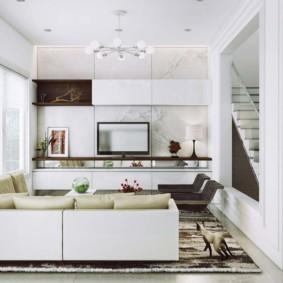 квартира в светлых тонах и современном стиле интерьер идеи