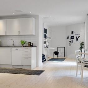 квартира в светлых тонах и современном стиле идеи интерьер