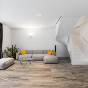 квартира в светлых тонах и современном стиле идеи интерьера