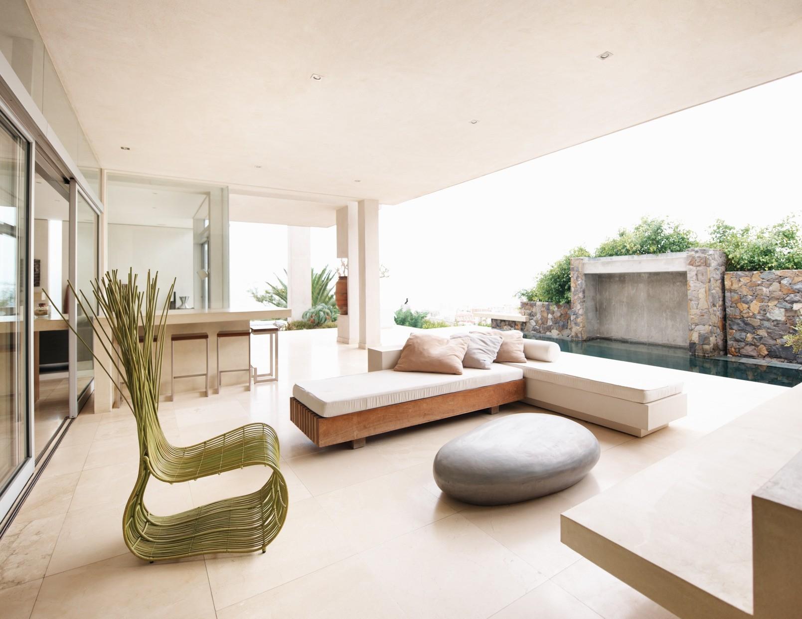 квартира в светлых тонах и современном стиле интерьер