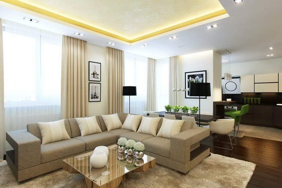 квартира в светлых тонах и современном стиле оформление фото