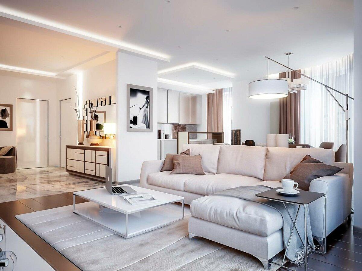 квартира в светлых тонах и современном стиле варианты
