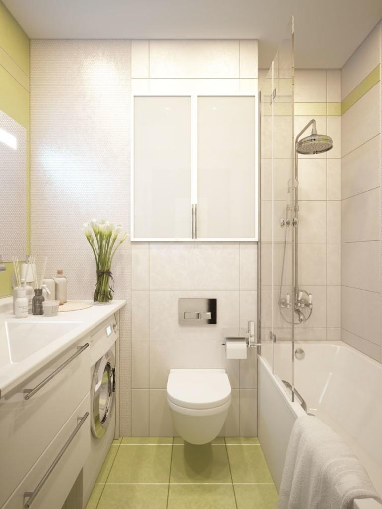 Подвесной унитаз в ванной панельного дома