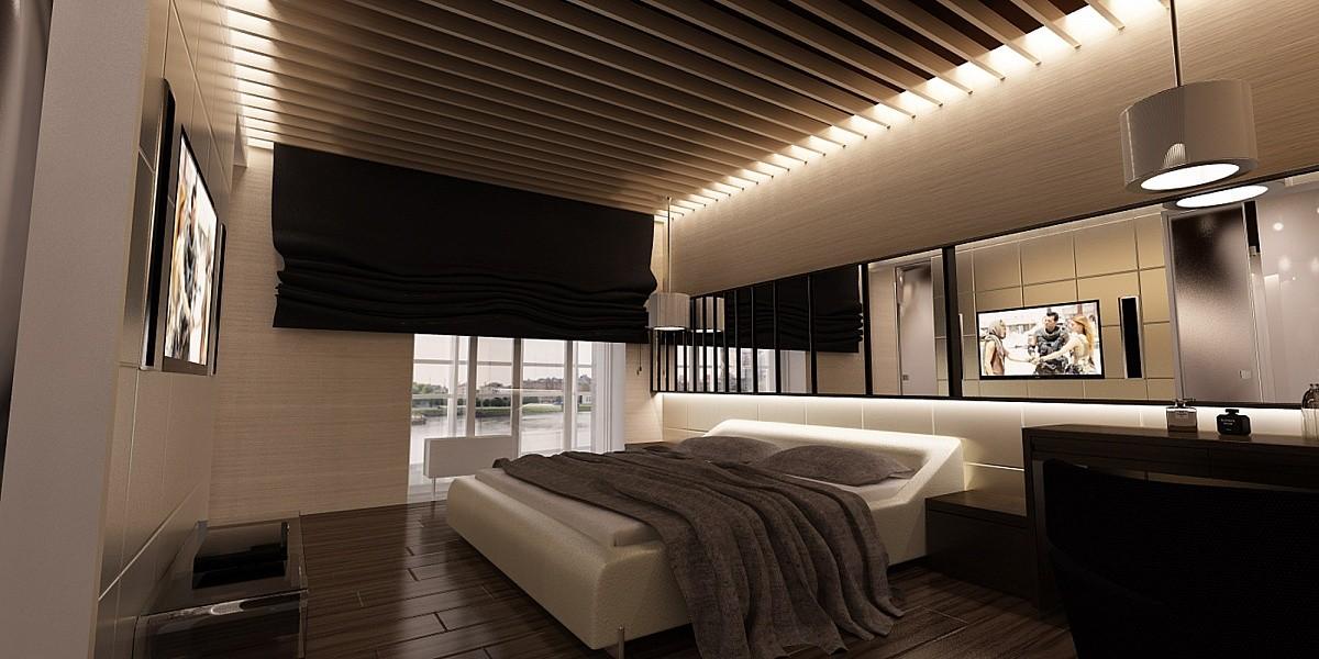 ламельный потолок с подсветкой