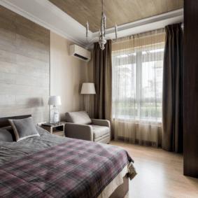 ламинат на стене в спальне дизайн