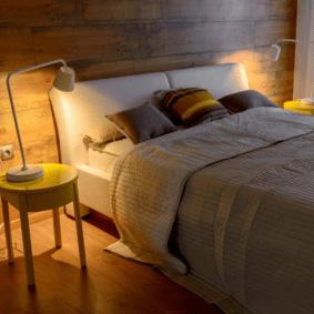 ламинат на стене в спальне идеи дизайн