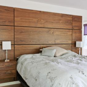 ламинат на стене в спальне идеи дизайна