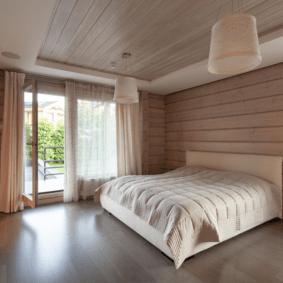 ламинат на стене в спальне идеи декор