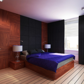 ламинат на стене в спальне идеи декора