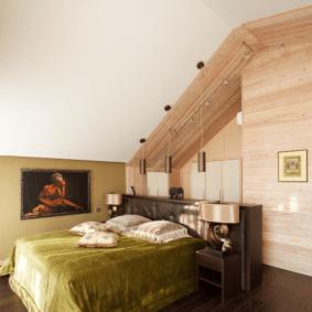 ламинат на стене в спальне виды декора