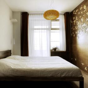 ламинат на стене в спальне идеи оформление