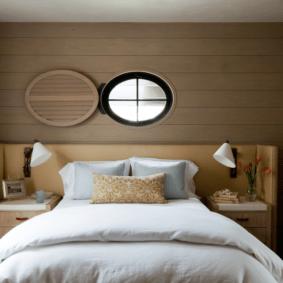 ламинат на стене в спальне идеи варианты