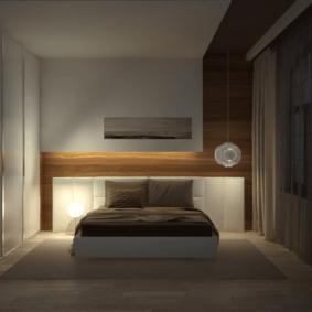 ламинат на стене в спальне фото видов