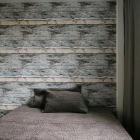 ламинат на стене в спальне виды оформления