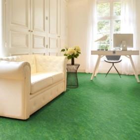 линолеум для спальной комнаты виды декора