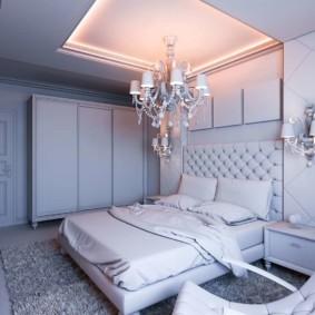 люстра для спальни оформление
