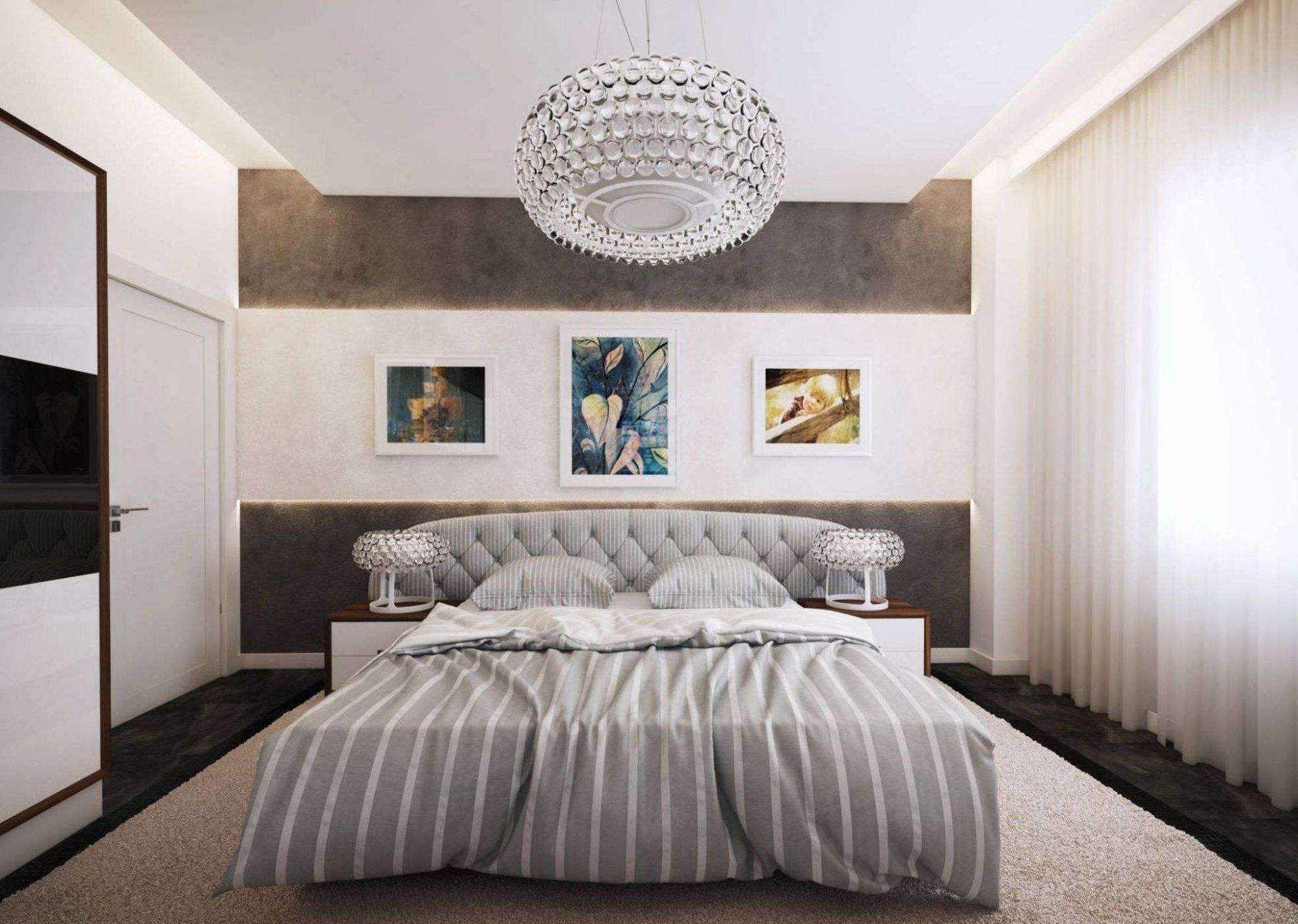 люстра для спальни интерьер