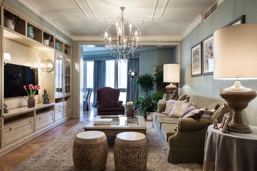 люстры для гостиной комнаты интерьер